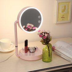 #Banggood USB LED зажгли зеркало для макияжа широкий вид с возможностью вращения регулируемая подставка столом ночники косметический (1114940) #SuperDeals