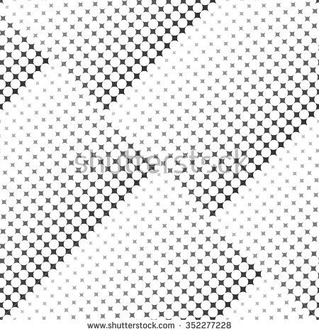 Vector seamless texture. Modern abstract background. Repeating pattern with dashed lines. Pattern with halftone effect.