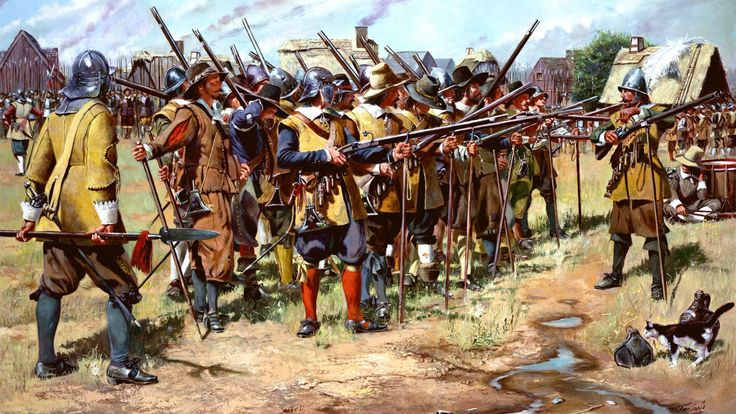 First Muster, Spring 1637, Massachusetts Bay Colony. The birth of the United States National Guard. http://www.elgrancapitan.org/foro/viewtopic.php?f=21&p=898884#p898844