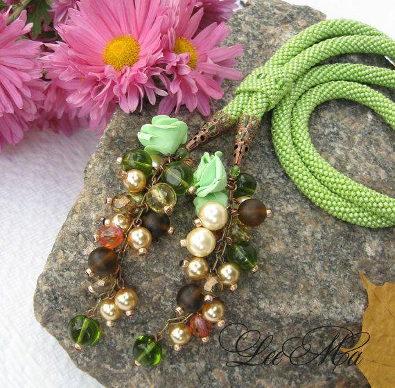 Bead Crochet Necklace Dreams of Hawaii by LeeMarina on Etsy, $131.00