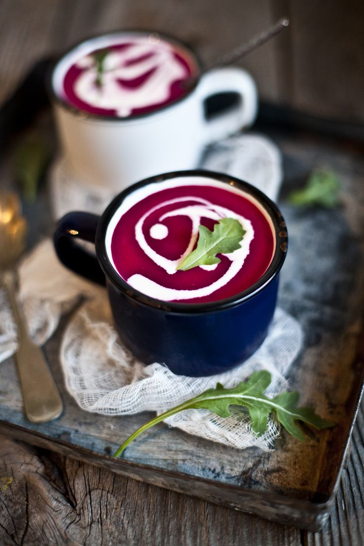 Beet, Apple, Coconut Milk and Ginger Soup Recipe - this looks so delicious an warming