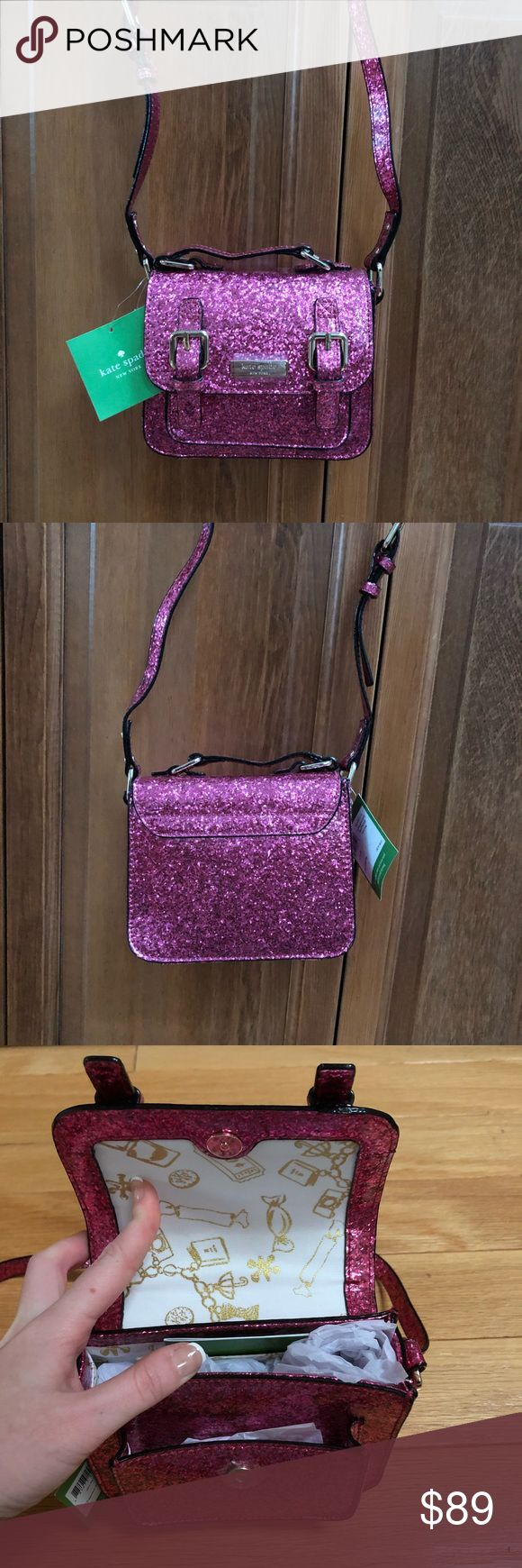 ❗️SALE❗️$148 Kate Spade Crossbody New with tags $148 Kate Spade scout bag in skirt the rules fushia glitter//brand new, perfect condition, never worn before Kate Spade Bags Crossbody Bags