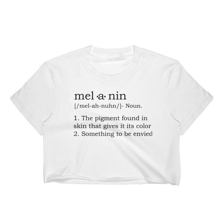 """Melanin"" Definition Crop"