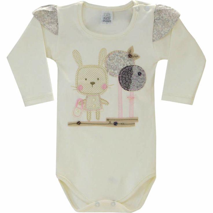 Body Bebê Menina Romântico Cru - Patimini :: 764 Kids | Roupa bebê e infantil