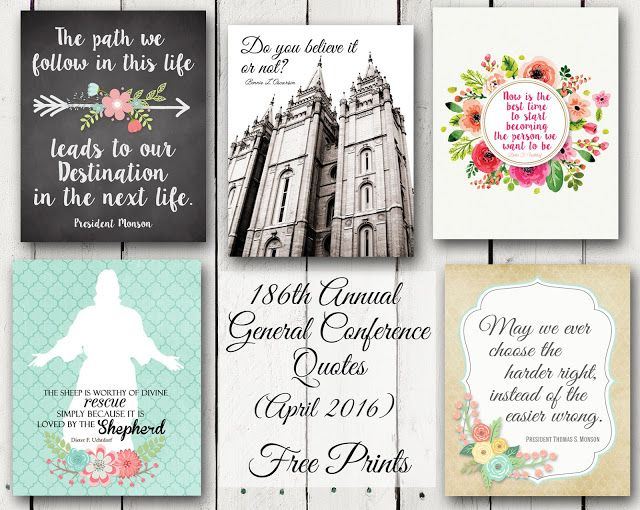 A Pocket full of LDS prints: April 2016 General Conference - FREE PRINTS