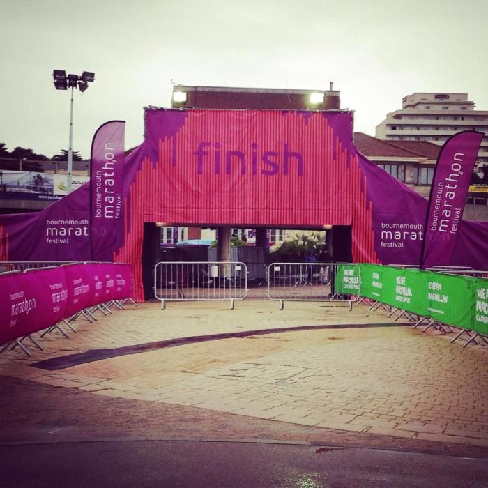 What a lovely sight! The finish of the Bournemouth #Marathon Festival