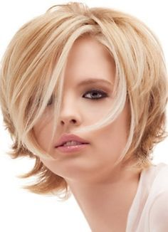 стрижка на тонкие редкие волосы круглое лицо 1