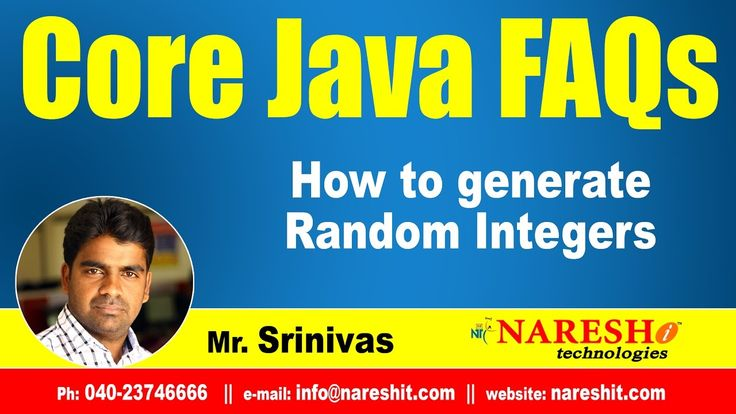 How to generate Random integers? | Core Java Interview Questions