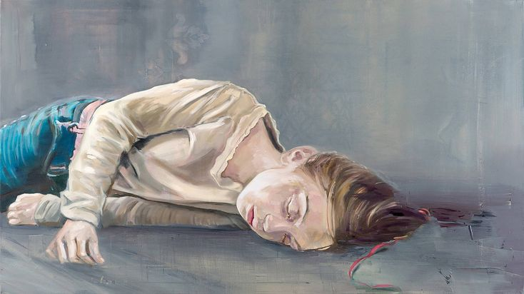 ALENA ADAMÍKOVÁ _ SPIACA   95 X 170 CM,  OLEJ NA PLÁTNE | OIL ON CANVAS   2012