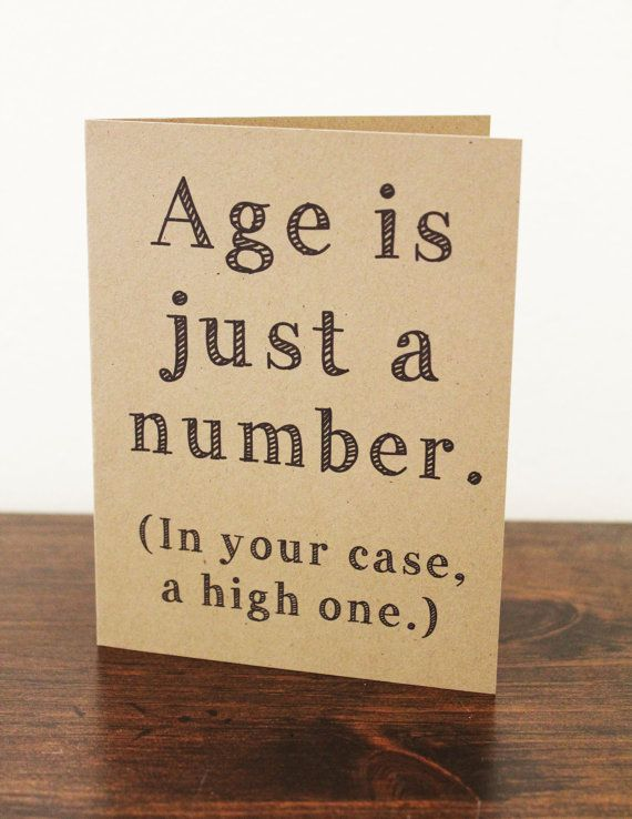 Age is just a Number Card Birthday Card by LissaLooStationery, $3.50