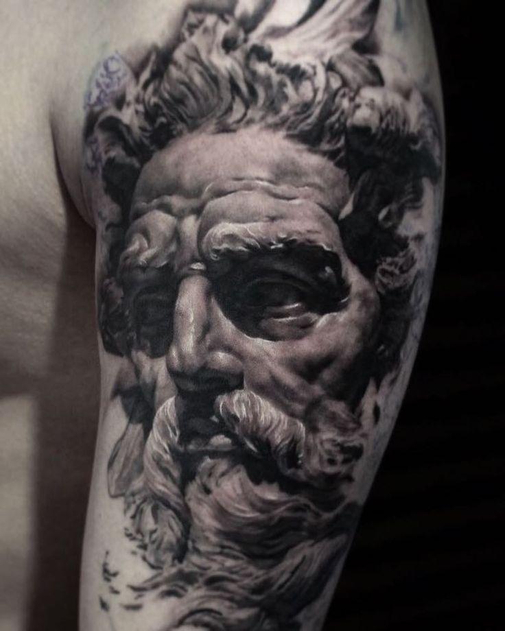 11 best poseidon tattoos images on pinterest poseidon for God s son tattoo