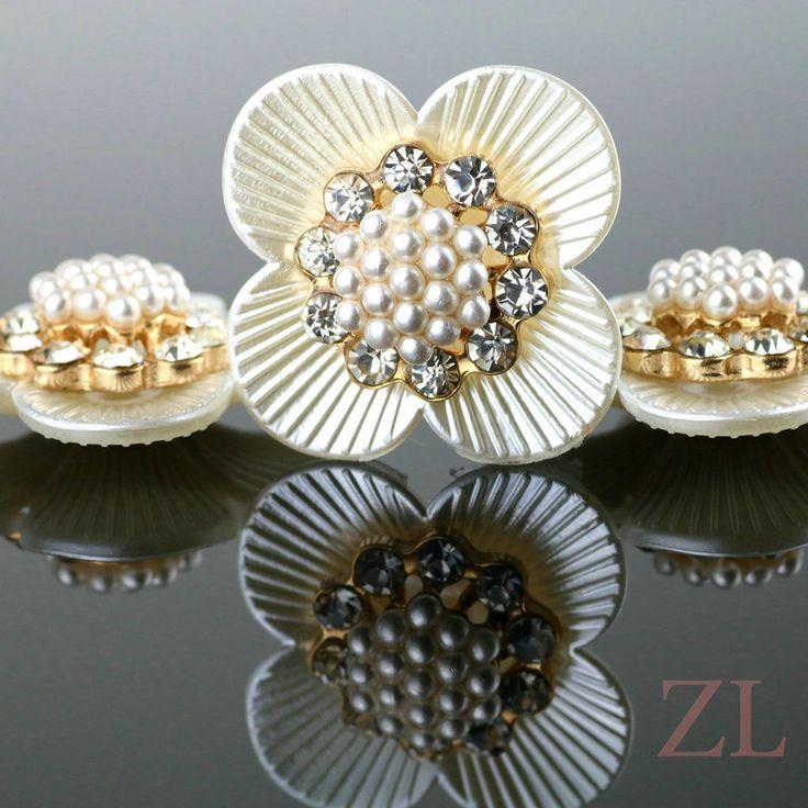 Exquisitos granos de la flor, acrílico imitación de la perla granos de la joyería, encantos DIY cabida los granos de la boda de pelo/ropa de la joyería que hace