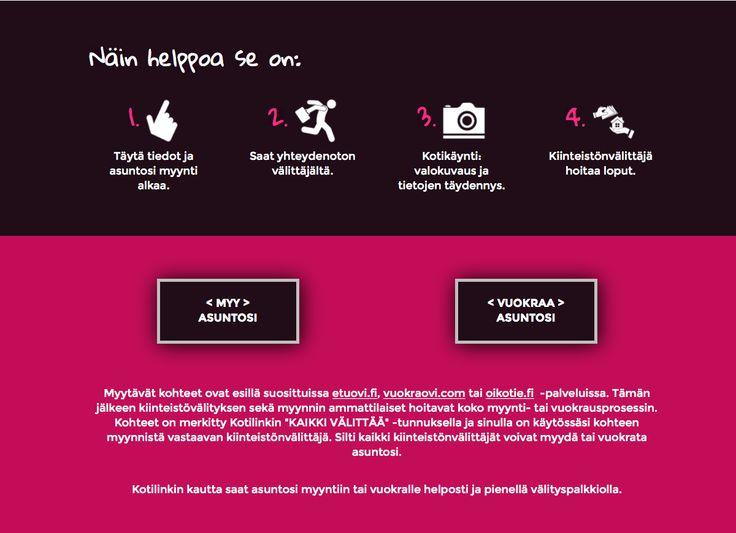 Kotilinkki, www-sivut. Suunnittelu: Heidi Sarjanoja/Valokki Design.
