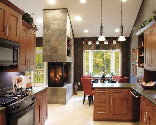 See Through Fireplace Between Dining And Living Room Kitchen Pinterest See Through Fireplace Page And Through