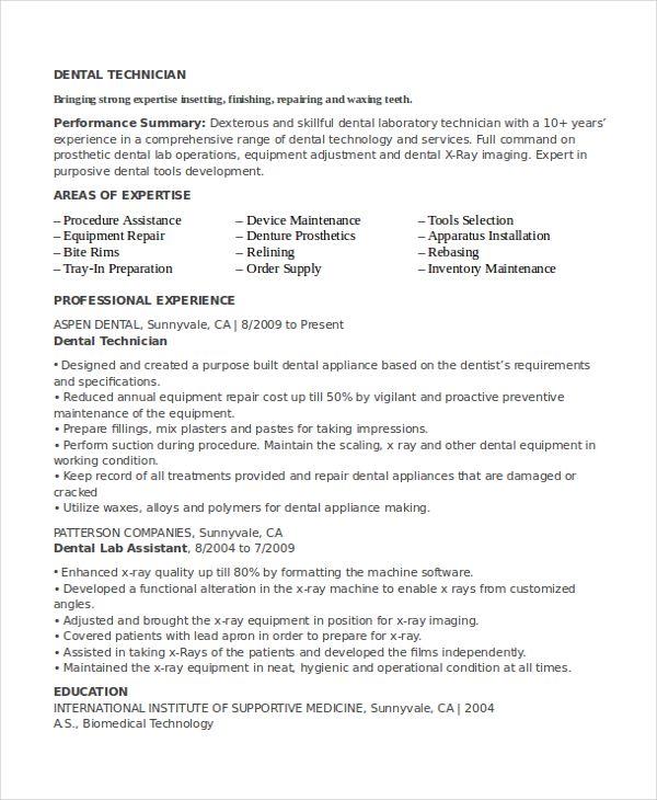 Lab Technician Resume Job Resume Template Resume Job Resume Examples
