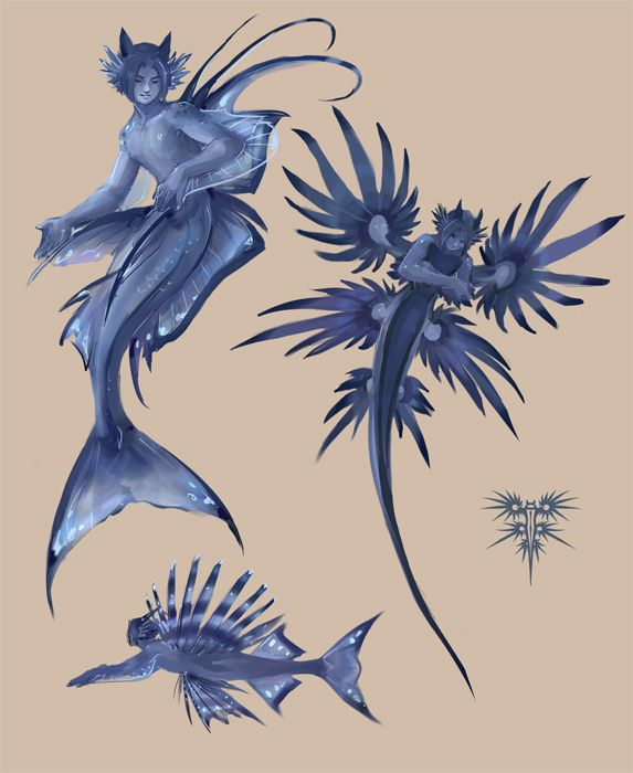jellyfish merfolk | Glaucers 1201 by Chael
