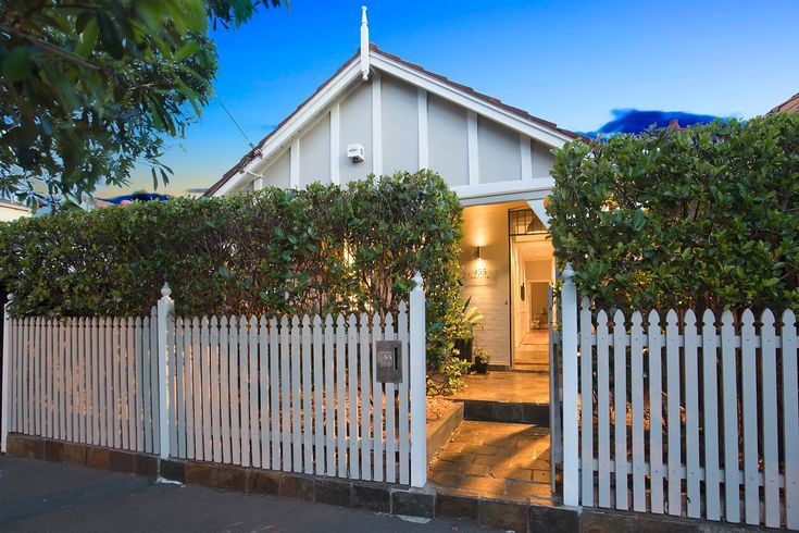 gillie, marc, gillie&marc, contemporary, art, australia, sydney, interior, design, modern, vintage, unique, blue, aqua, lilyfield, forsale, sale, auction, timber, paintings, sculptures, pillows, greenery, classic, chic, gillieandmarc,  outdoors, deck, relax, facade, white, picket, fence