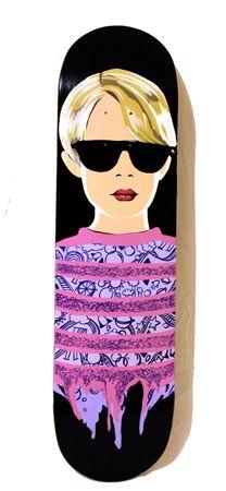 Kris Abigail  Atienza  The Kid  - 2014   Mixed media on skateboard deck   20 x 80 cm