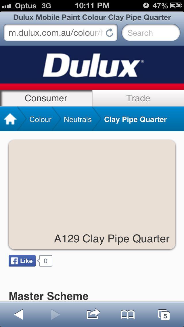 EXTERIOR PAINT http://m.dulux.com.au/colour/hue/Neutrals/251618/clay-pipe-quarter