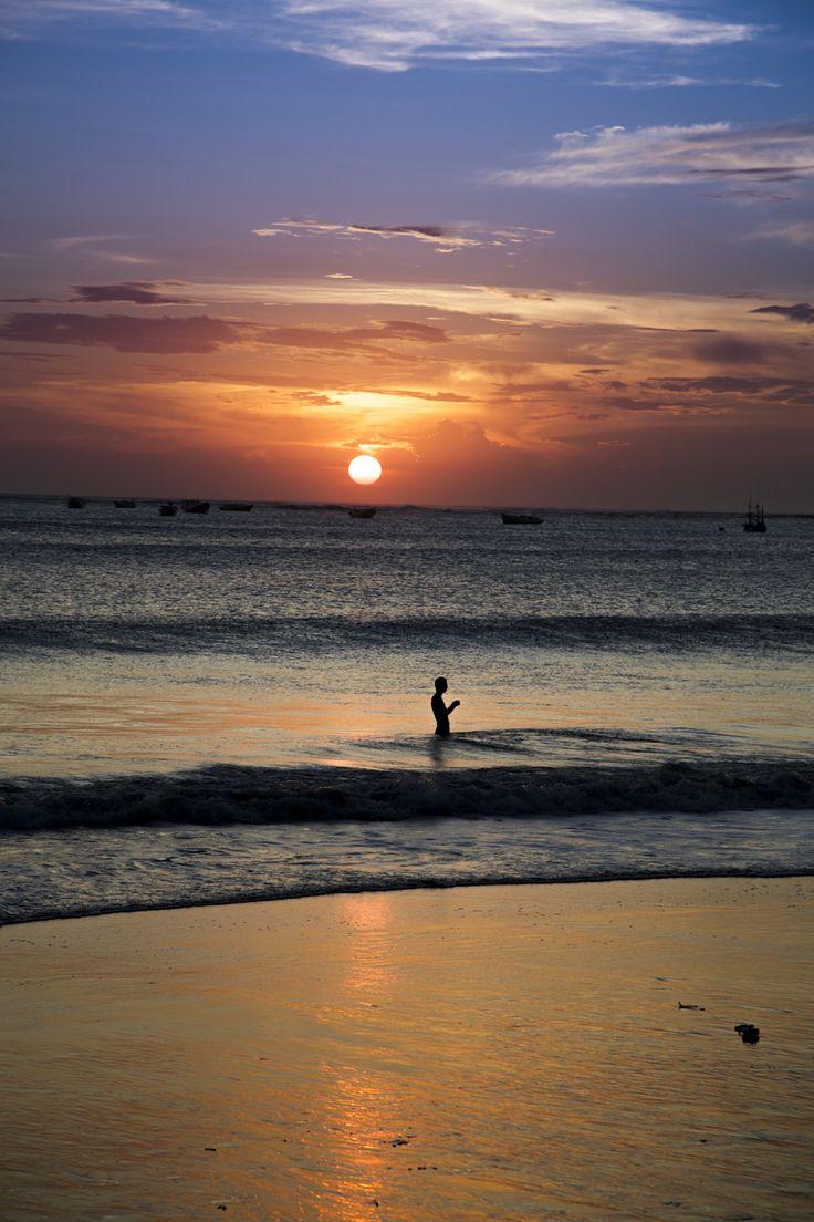 A sunset in Cartagena