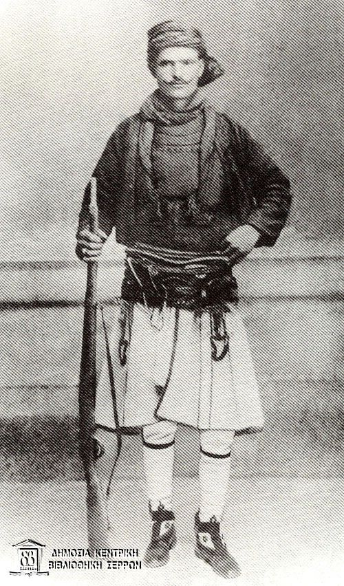 Traditional warrior's costume of the sarakatsani (Macedonia, northern Greece)…