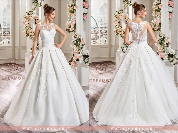 Gelinlik modeli: Lubov Dantel yaka ve sırt detayları, plikaşe tarzı eteği ile Lubov modeli tüm DreamON mağazalarında. www.dreamon.com.tr #dreamon #gelinlik #style #rockthatnight #koleksiyon #gelinlikmodelleri #nisanlık #mağaza #truelove #wedding #abiye #dreamongelini #abiyemodelleri #fairytale #weddingdress #tasarim #lubov #design #couture #dreamonplaza #gaziantep #ankara #allaround