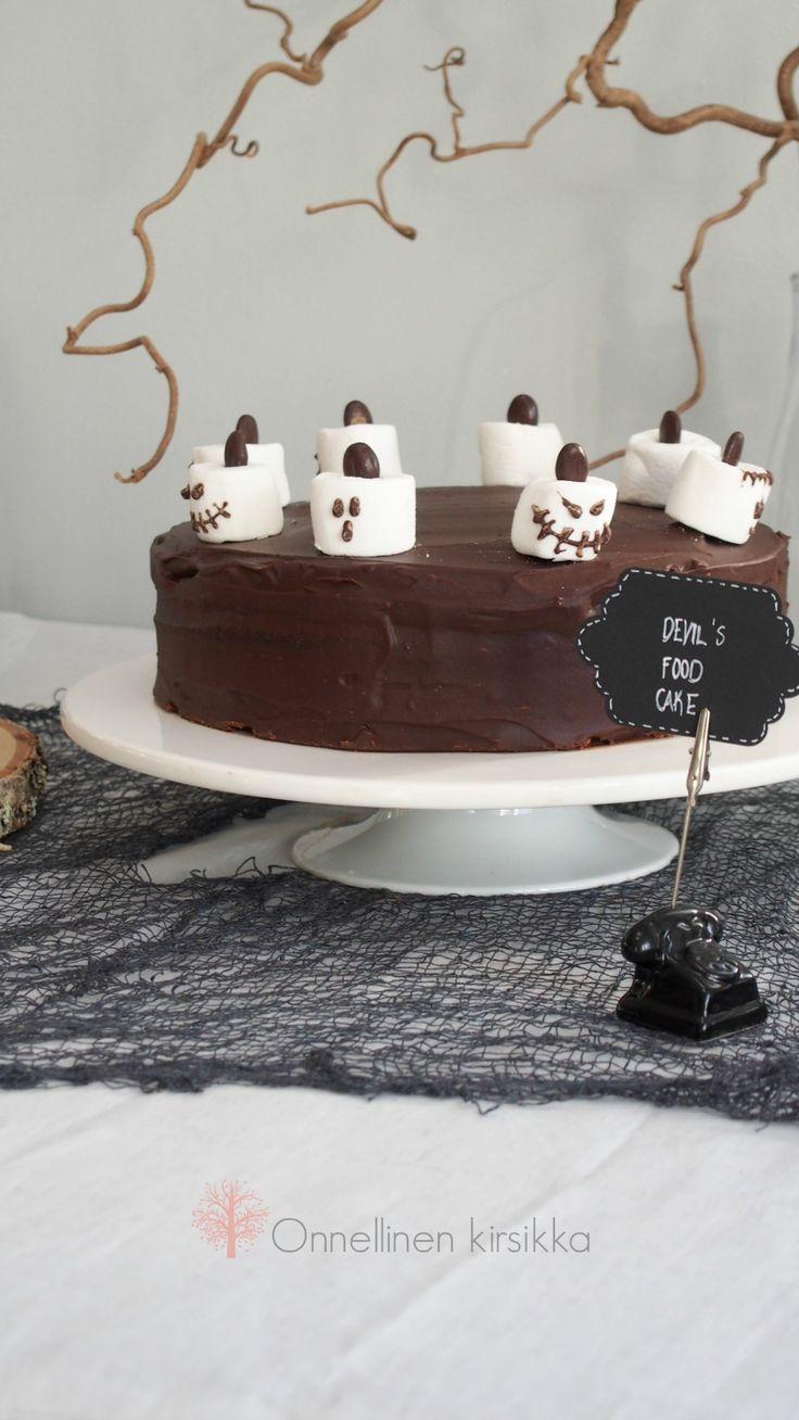 Devil's Food Cake for Halloween