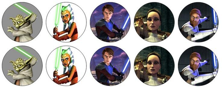Eetbare plaatjes Clone Wars diverse figuren  - Patchshopgirl Heel veel thema's oa super mario, angry birds, toy story, superhelden Ook decoratie en uitdeelkadootjes