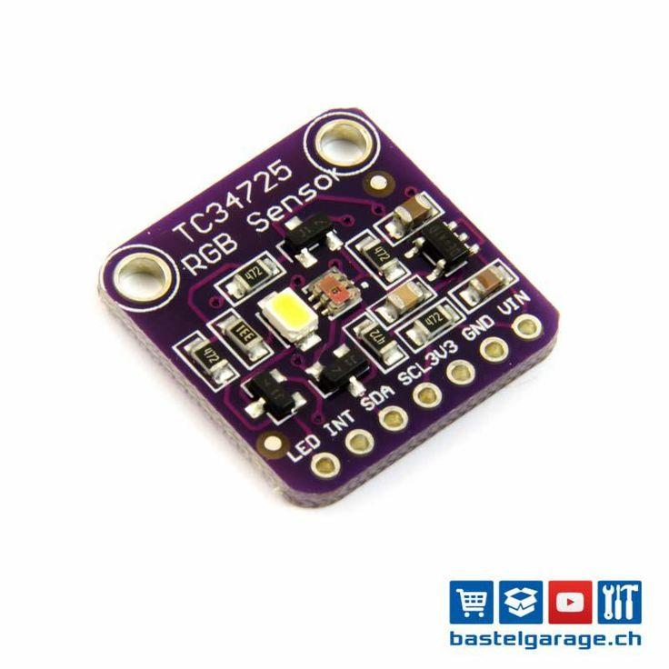 RGB Farben Sensor TCS34725 mit IR-Filter und LED