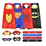 #USAshopping #8: Ecparty Cape and Mask with Bracelet Set of 4 Different Superhero Dressing Up Costumes for Kids