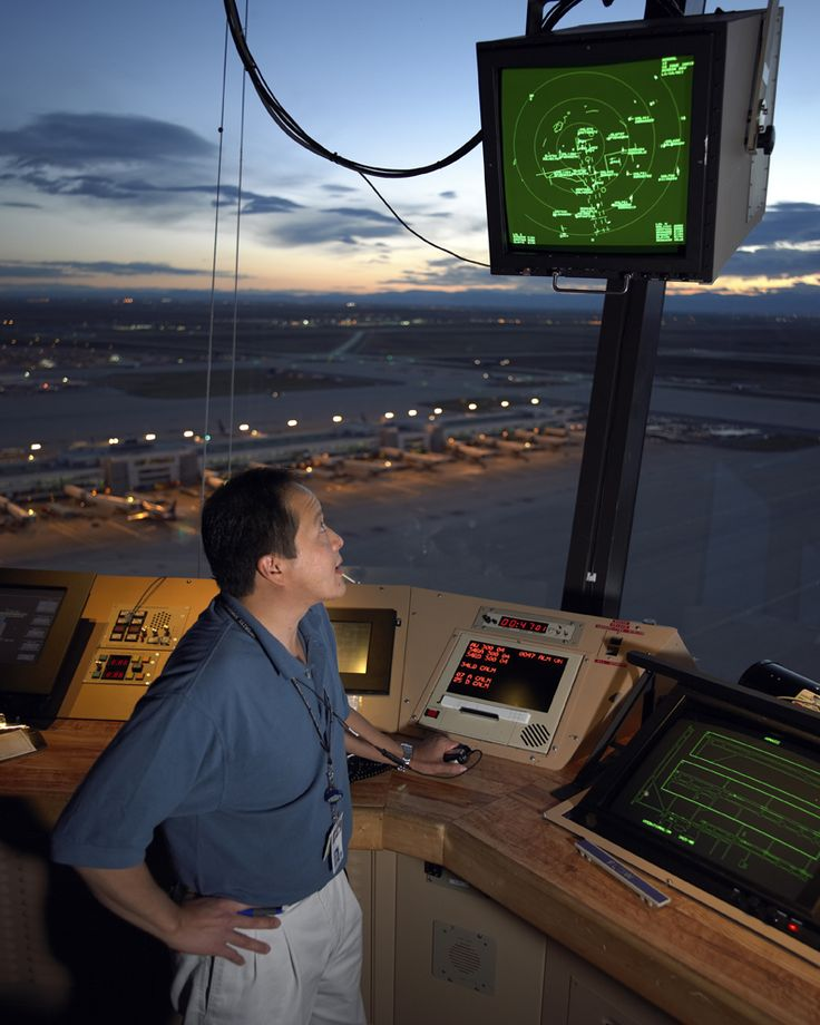 Denver United Terminal: Inside The FAA Tower At Denver International Airport. This