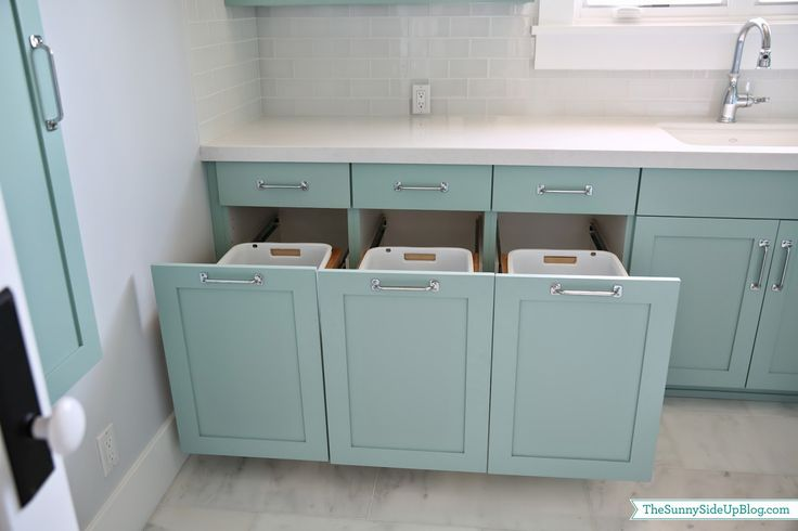 Same laundry room, different view. This is exactly how laundry needs to be sorted. I love that it is out of sight.