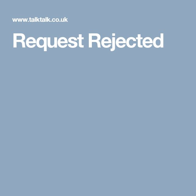 Request Rejected