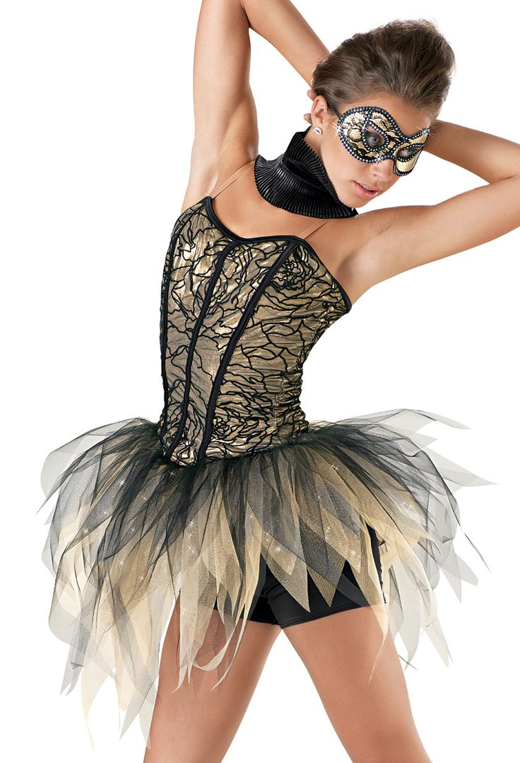 Weissman™ | Metallic Shredded Tutu with Shorts (great for a contemporary piece)