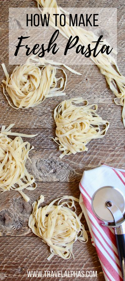 Looking for some Italian food inspiration? If you're ready to take your pasta dishes to the next level, store-bought pasta just isn't going to cut it. So it's time to learn how to make fresh pasta! In this post, we detail exactly how to make pasta from scratch, with or without a stand mixer, pasta roller, and pasta cutter. Here's our authentic homemade pasta recipe, which we learned during a cooking class in Florence, Italy! Buon appetito!
