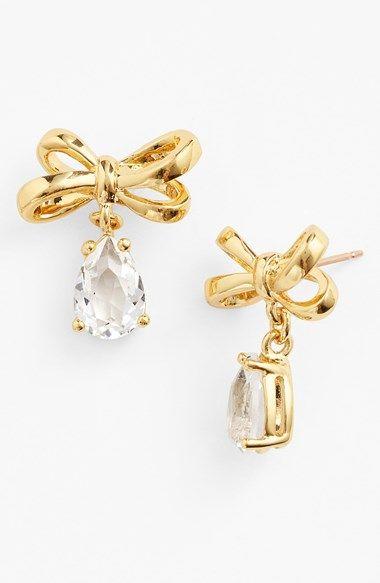 Sweet bow drop earrings