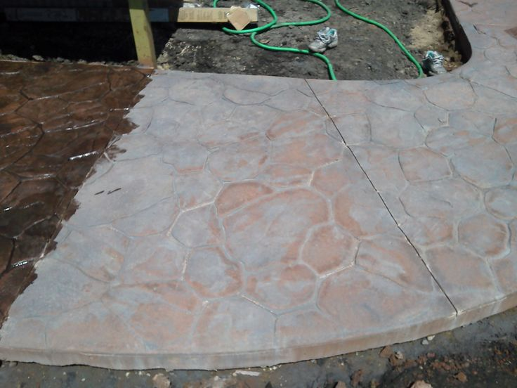 Stamped Concrete - Before sealer has been applied http://makconstructiongf.com