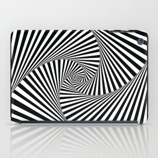 'Twista' by Fimbis  #blackandwhite #black #white #monochrome #fashion #geometric #ipad #ipadmini #tech