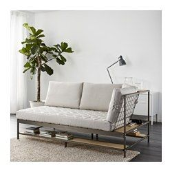 IKEA - EKEBOL, Sofa, , 10-year limited warrranty. Read about the terms in the limited warranty brochure.Smart shelves for storage on all sides of the sofa. The steel mesh can be used to store things by hanging them up.Can be placed as a focal piece in the middle of the room since the steel mesh at the back will add a nice decorative touch to the room.The sofa is made of separable parts and thanks to smart packaging it's easy to take home.The corner can be placed to the right or left...