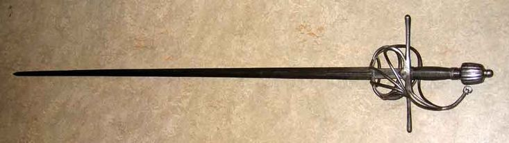 Militär korg rapir ca 1620