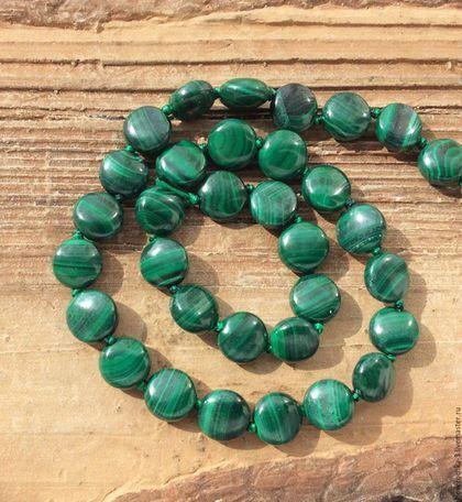 Для украшений ручной работы. Ярмарка Мастеров - ручная работа. Купить Малахит натуральный 8 мм таблетка бусины камни для украшений. Handmade.