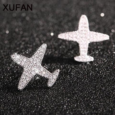 8bd536ea4 Lovely Plane Stud Earrings-Earrings-Xufan-TouchyStyle New arrival Lovely Plane  CZ stone Stud Earrings Women's Jewelry Cute Girls Fashion Aircraft AAA ...