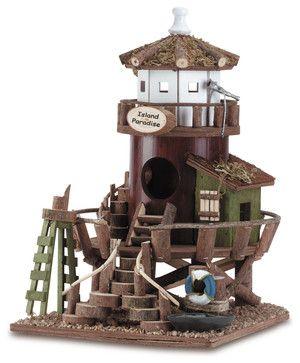 Island Paradise Birdhouse tropical-birdhouses