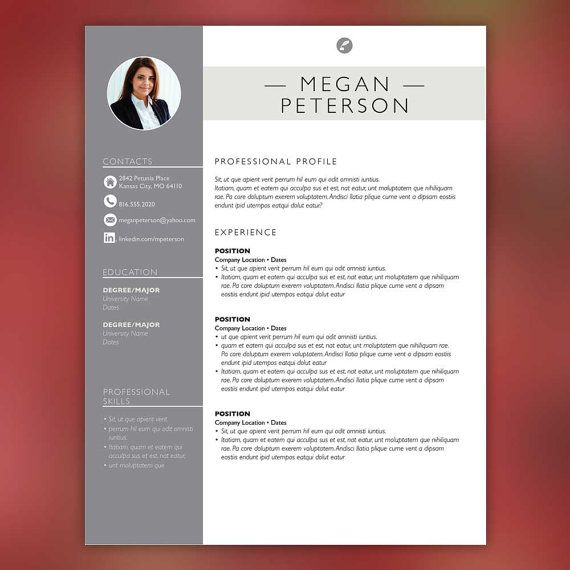 sales resume template resume with free cover letter and second page instant download ms office and adobe indesign peterson - Sales Resume Templates