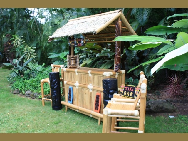 New Outdoor Bamboo Tiki Bar