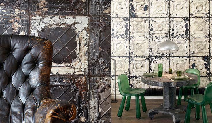 New Merci pressed tin wallpaper by NLXL.