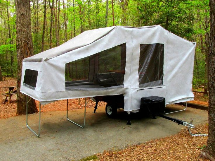 how to set up a camper trailer tent