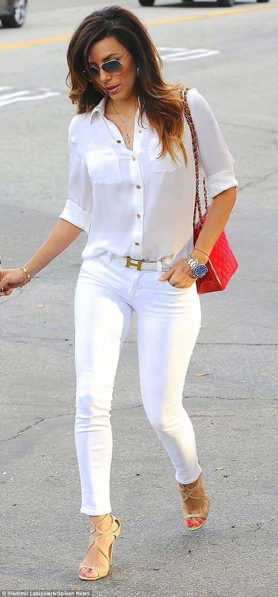 Mu00e1s de 25 ideas increu00edbles sobre Combinar pantalon blanco en Pinterest | Jean blanco Pantalu00f3n ...