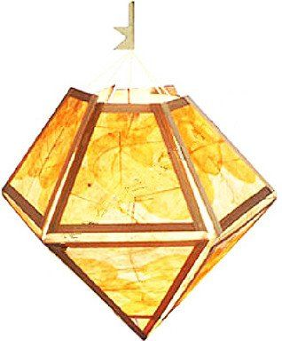 Diamond Bodhi Leaf paper Lampshade