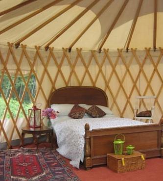 Cuckoo Down Yurts, Glamping in Devon